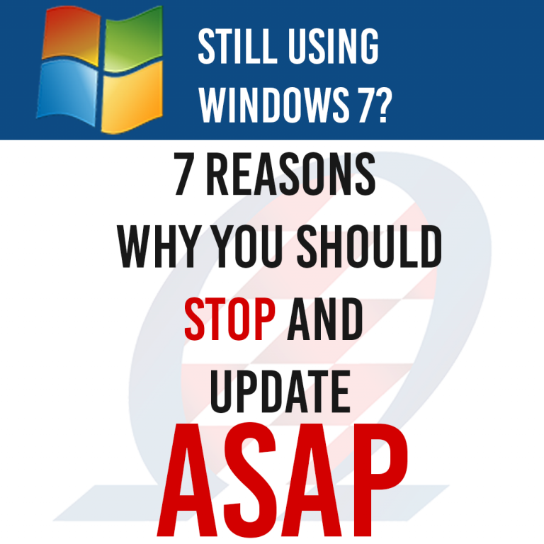 Why You Should Stop Using Windows 7
